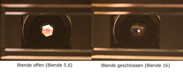 Blende geöffnet (Blende 5.6)